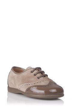 Zapato Oxford Combinado en Charol