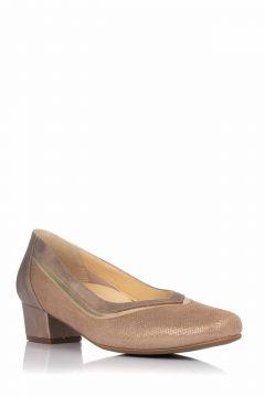 Zapato de Salón Dorado