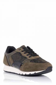 Sneaker combinado con reptil