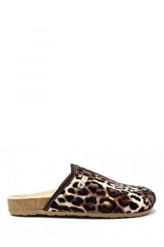 Zapatilla de casa- Print leopardo