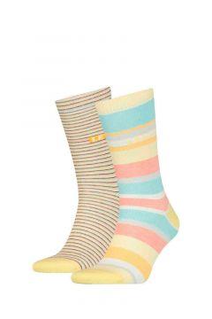 Pack 2 calcetines Regular Cut Micro Stripe