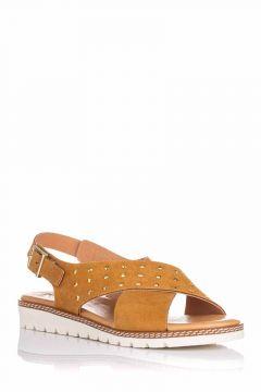 Sandalia de piel